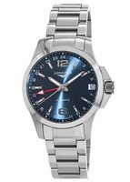 Longines Conquest Automatic GMT Blue Dial Steel Men's Watch L3.687.4.99.6