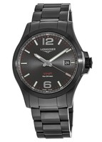 Longines Conquest V.H.P. Black PVD Black Dial Men's Watch L3.716.2.56.6