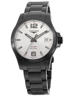 Longines Conquest V.H.P. Black PVD Silver Dial Men's Watch L3.716.2.76.6