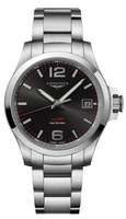 Longines Conquest V.H.P. Stainless Steel Black Dial Men's Watch L3.716.4.56.6