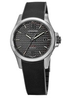 Longines Conquest V.H.P. 41mm Black Dial Black Rubber Men's Watch L3.716.4.66.9