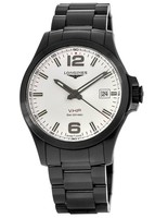 Longines Conquest V.H.P. Black PVD Silver Dial Men's Watch L3.726.2.76.6