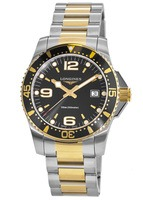 Longines HydroConquest Quartz Steel & Plated Yellow Gold Black Dial Men's Watch L3.740.3.56.7