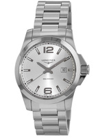 Longines Conquest Quartz Silver Dial Men's Watch L3.760.4.76.6
