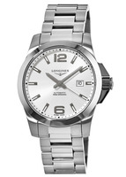 Longines Conquest Automatic Silver Dial Men's Watch L3.778.4.76.6