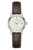 Longines Heritage  Beige Dial Brown Leather Women's Watch L4.325.4.92.2