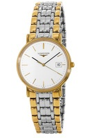 Longines Presence  White Dial Two Tone Men's Watch L4.720.2.12.7