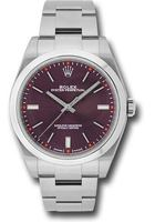 Rolex Oyster Perpetual No-Date  Red Grape Dial Men's Watch M114300-0002