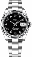 Rolex Oyster Perpetual Date  Black Diamond Dial Men's Watch M115234-0011