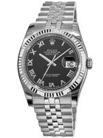 Rolex Datejust 36  Black Dial Unisex Watch M116234-0086