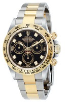 Rolex Daytona  Cosmograph Black Diamond Dial Men's Watch M116503-0008