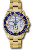 Rolex Yacht-Master  White Dial Yellow Gold Men's Watch M116688-0001