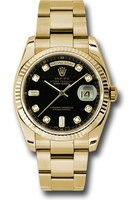 Rolex Day-Date  Black Diamond Dial Unisex Watch M118238-0111