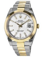 Rolex Datejust 41  Gold & Steel White Dial Men's Watch M126303-0015