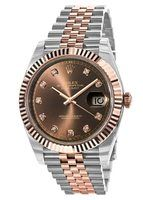 Rolex Datejust 41  Chocolate Dial Steel and Everose Gold Men's Watch M126331-0004