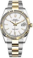 Rolex Datejust 41  White Dial Men's Watch M126333-0015