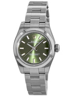 Rolex Oyster Perpetual No-Date  Olive Green Dial Women's Watch M176200-0014