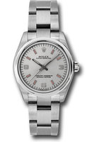 Rolex Oyster Perpetual No-Date  Silver Dial Women's Watch M177200-0009