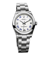 Rolex Oyster Perpetual No-Date  White Dial Stainless Steel Women's Watch M177200-0016