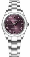 Rolex Oyster Perpetual No-Date  Red Grape Dial Women's Watch M177200-0017