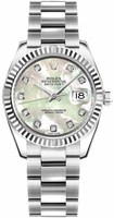 Rolex Datejust 31  Mother of Pearl Diamond Dial Women's Watch M178274-0056