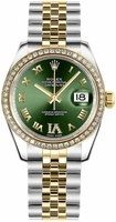 Rolex Datejust 31  Olive Green Diamond Dial Women's Watch M178383-0005