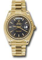 Rolex Day-Date 40 18K Yellow Gold Black Dial Men's Watch M228238-0007