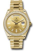 Rolex Day-Date  Yellow Gold Champagne Diamond Dial Men's Watch M228348RBR-0002