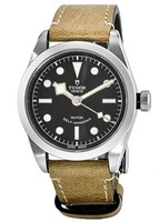 Tudor Heritage Black Bay  36 Black Dial Leather Strap Unisex Watch M79500-0002