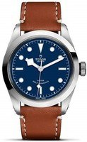 Tudor Black Bay 36  Blue Dial Brown Leather Strap Women's Watch M79500-0006
