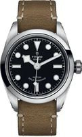 Tudor Black Bay 32  Black Dial Beige Leather Women's Watch M79580-0002