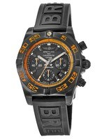 Breitling Chronomat 44 Raven Black Chronograph Rubber Strap Men's Watch MB0111C2/BD07-153S