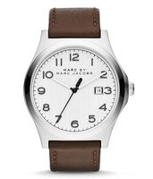 Marc By Marc Jacobs   Jimmy White Dial Brown Leather Men's Watch MBM5045