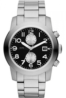 Marc By Marc Jacobs   Larry Black Dial Stainless Steel Men's Watch MBM5050