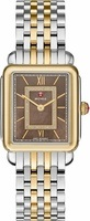 Michele Deco II Mid Size Two Tone Cocoa Dial Women's Watch MWW06I000019