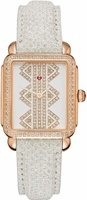 Michele Deco II Mid Rose Gold Pattern Diamond Dial Snowflake Snakeskin Women's Watch MWW06I000022
