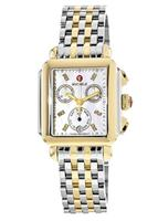 Michele Deco Signature Two Tone Mother of Pearl Dial Women's Watch MWW06P000122