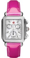 Michele Deco Signature Pink Patent Leather Women's Watch MWW06P000152