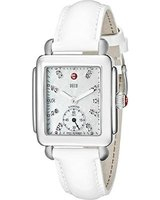 Michele Deco Mid White Patent Women's Watch MWW06V000012