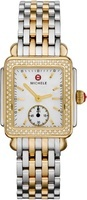Michele Deco Diamond Two Tone Mother of Pearl Dial Women's Watch MWW06V000023