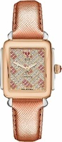 Michele Deco Diamond Two Tone Rose Gold, Pink Topaz and Diamond Women's Watch MWW06V000082