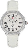 Michele Serein Diamond Chronograph Silver Leather Women's Watch MWW21A000005