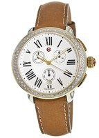 Michele Serein Chronograph Two Tone Saddle Calfskin Women's Watch MWW21A000042