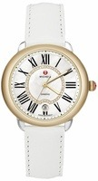 Michele Serein Mid Two Tone White Leather Women's Watch MWW21B000016
