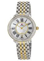 Michele Serein Diamond Two Tone Mother of Pearl Women's Watch MWW21B000032