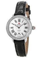 Michele Serein 12 Mother of Pearl Dial Diamond Basel Leather Strap Women's Watch MWW21E000002