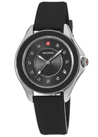 Michele Cape  Black Dial Black Silicone Women's Watch MWW27A000006