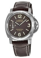 Panerai Luminor Marina 8 Days 44mm Brown Dial Leather Strap Men's Watch PAM00564