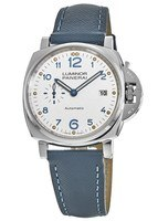 Panerai Luminor Due 42mm 3 Days Automatic Ivory Dial Blue Fabric Strap; Men's Watch PAM00906