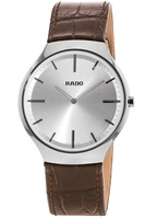 Rado True Thinline  Silver Dial Brown Leather Men's Watch R27955105